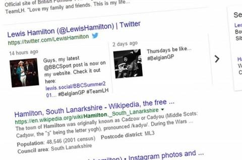 Google-Twitter integration arrives for desktop search results.